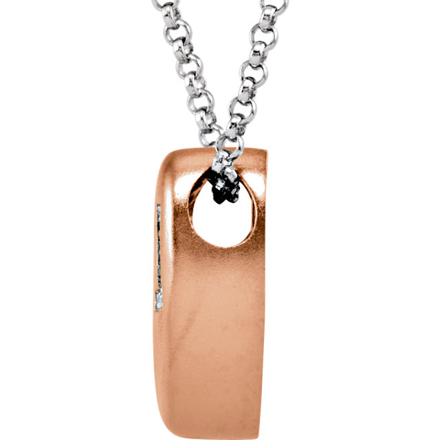 14K Rose Gold-Plated Sterling Silver .02 CTW Diamond