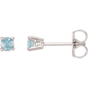 Birthstone Friction Post Stud Earrings