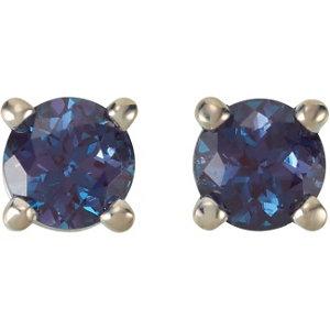 Birthstone Friction Post Stud Earrings