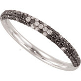3/8 ct tw Black & White Diamond Ring with Black Rhodium Plating