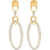 1/2 ct tw Diamond Earrings with Rhodium Plating
