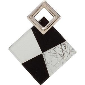 Onyx, Clear Quartz & Tourmalinated Quartz Pendant
