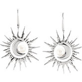 Freshwater Cultured Pearl Interchangeable Sun & Moon Earrings