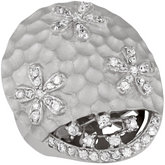 Flower Dome Ring with Cubic Zirconia