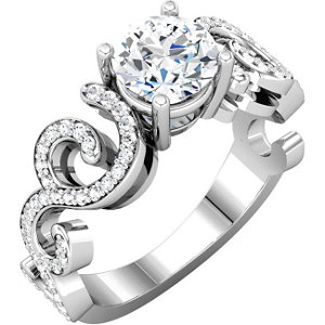 14kt White 1/5 CTW Diamond Band