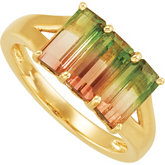 Genuine Bi-Color Tourmaline Ring