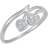 .03 ct tw Diamond Heart Ring