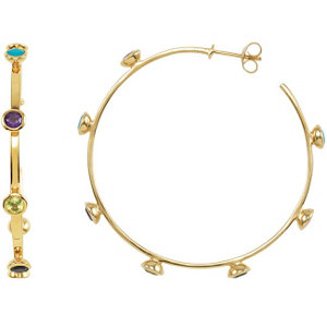 Missoma® Gemstone Hoop Earrings