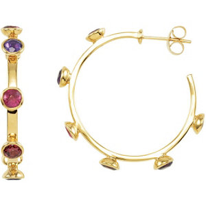 Missoma® Multi-Gemstone Hoop Earrings