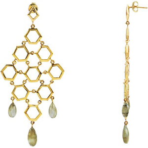 Missoma® Gemstone Chandelier Earrings