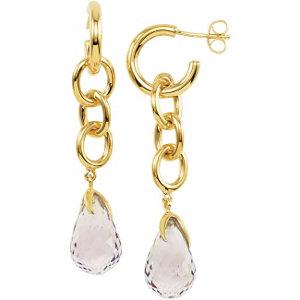 1 kt Vermeil Amethyst<br> Earrings with Box