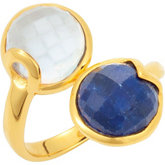 Missoma® Multi Double Gemstone Ring