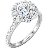 Cluster Engagement Ring or Band