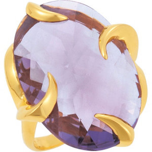 18kt Yellow Vermeil Amethyst Ring