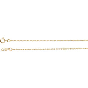 Lasered Titan Gold™ Rope Chain 1mm