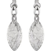 Genuine Tourmalinated Quartz Earrings