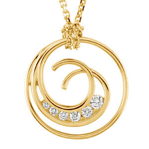 Journey Diamond Swirl Necklace
