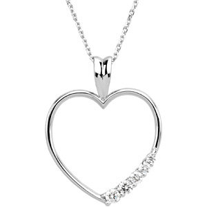 Journey Diamond Heart Necklace