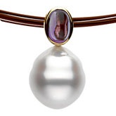 South Sea Cultured Pearl & Genuine Amethyst Necklace