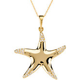 1/5 ct tw Diamond Starfish Necklace