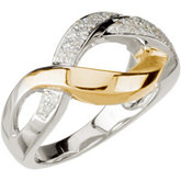 1/6 ct tw Freeform Diamond Ring