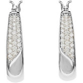 1/3 ct tw Diamond Hoop Earrings