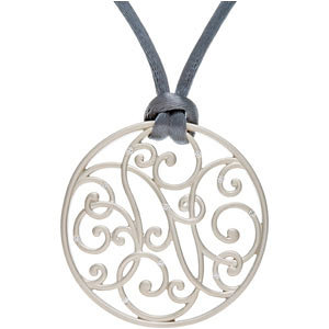 Diamond Scroll Pendant or Necklace