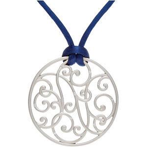 Diamond Scroll Pendant or Necklace