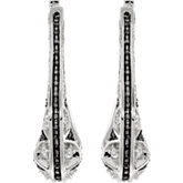 1 ct tw Black & White Diamond Earrings