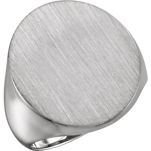 Sterling Silver 22x20mm Men-s Signet Ring
