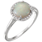 Gemstone & Diamond Halo-Style Ring or Mounting