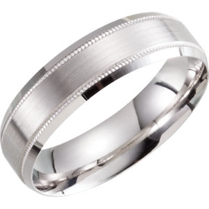 Lightweight 6mm-8mm Beveled Band