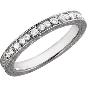 Diamond Semi-Mount Engagement Ring or Band