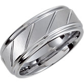 8.3mm Dura Tungsten® Diamond Cut Grooved & Beveled Band