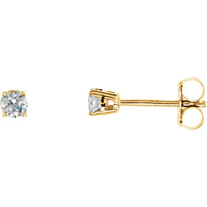 SI₁ G-H Diamond Friction Post Stud Earring