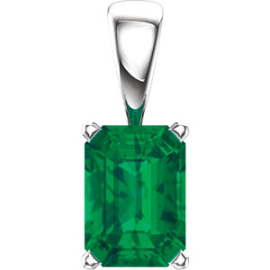 Emerald Gemstone Scroll Setting® Pendant or Mounting