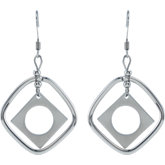 Amalfi™ Stainless Steel Diamond Shape Drop Earrings