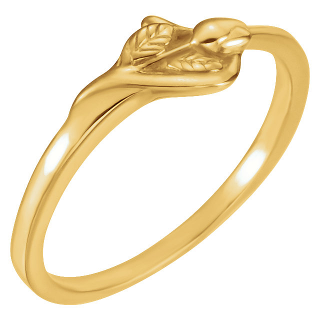 14kt Yellow Unblossomed Chastity Ring Size 6