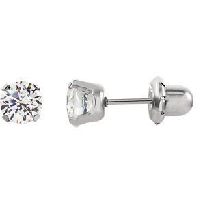 Cubic Zirconia Piercing Earrings