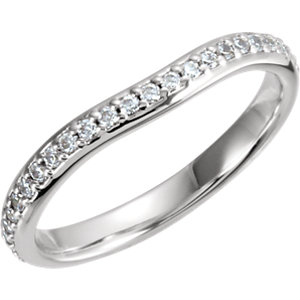 Round Solitaire Engagement Ring or Eternity Band Mounting