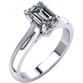 Cathedral Style Solitaire Engagement Ring Mounting with Accent