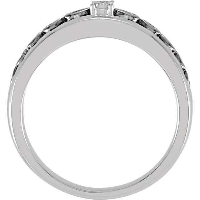 Sterling Silver .01 CTW Diamond Band Size 7