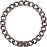 Stainless Steel Oxidized Curb Chain or Bracelet