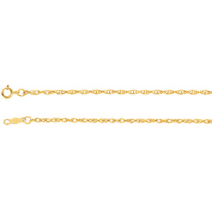 Lasered Titan Gold™ Rope Chain 1.5mm