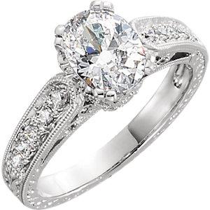14kt White 1/6 ATW<br> Diamond Band Size 6
