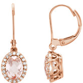 Morganite & Diamond Halo-Style Earrings