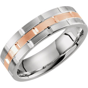 Two-Tone 7mm Comfort-Fit Grooved Band