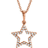 Diamond Petite Star Necklace or Mounting