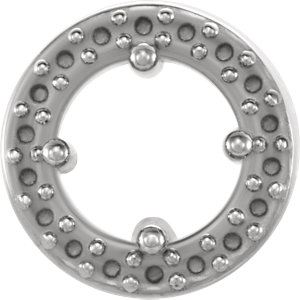 Sterling Silver Halo-Style Pendant Mounting for 4.2mm Center