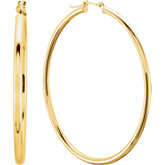Tube 2mm Hoop Earrings